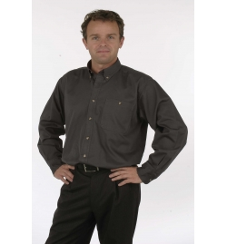 Soft Textured Easy Care Wash & Wear Twill Men's Shirt Long Sleeves