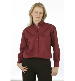 Soft Textured Easy Care Wash & Wear Twill Ladies Shirt Long Sleeves