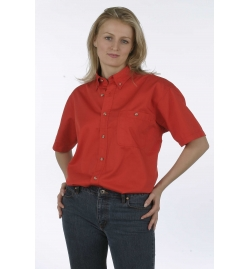 Soft Textured Easy Care Wash & Wear Twill Ladies Shirt Short Sleeves