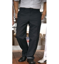 EMen's Flat Front Pants with Button Closure