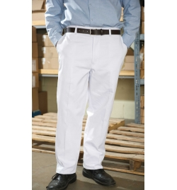 Men's Food Industry Work Pants 100% Cotton with Dome Closure