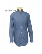Yarn Dyed Denim Unisex Shirt Short Sleeves (TALL)