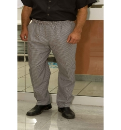 Salt & Pepper Baggy Chef Pants