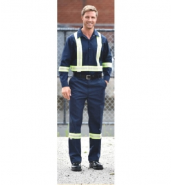 High Visibility Men's Flat Front Pants
