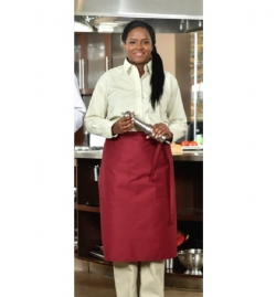 Bistro Apron with Pockets - 100% Polyester