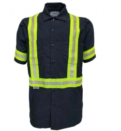 High Visibility Work Shirt Short Sleeve