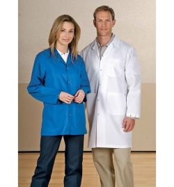 ESD Unisex Lab Coat with Knitted Cuff