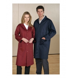 ESD Unisex Counter Coat with Dome Closure