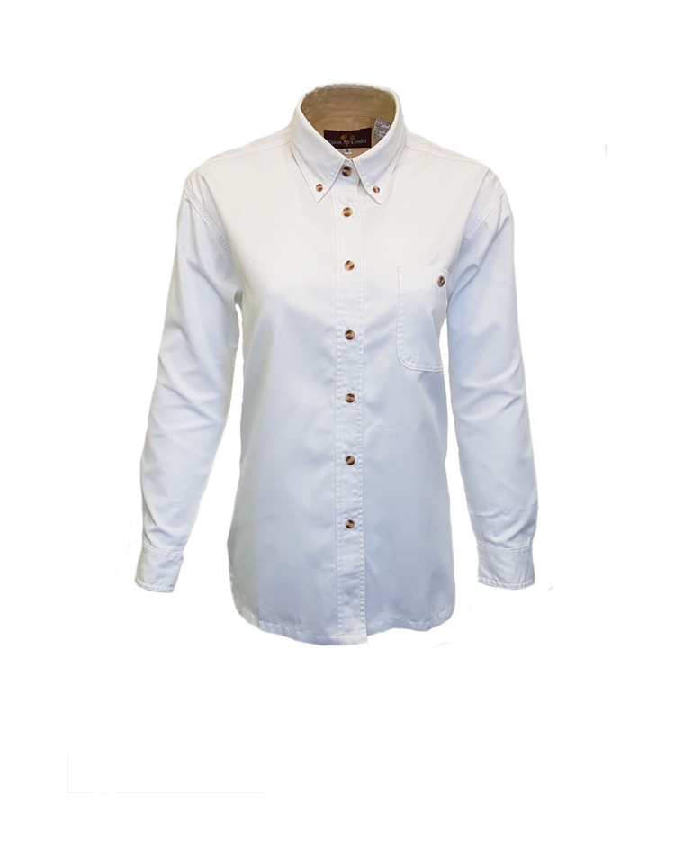 c911a677 ... Soft Textured Easy Care Wash & Wear Twill Ladies Shirt Long Sleeves ...