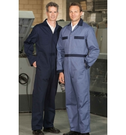 Cotton Coverall Metal Button Closure