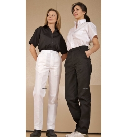 Women's work pants Dome Closure